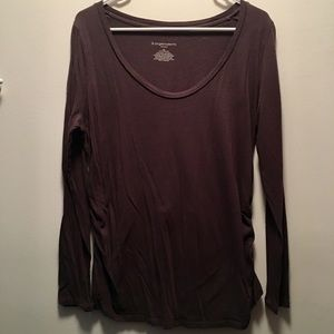 Maternity purple long sleeve tee size XL